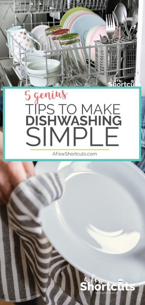 Don't spend all of your time cleaning the kitchen and washing dishes. Check out these 5 Genius Tips to make dishwashing simple and fast!