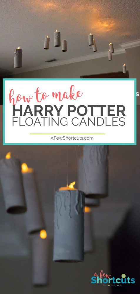 Just like in the dining hall at Hogwarts make your own DIY Harry Potter Floating Candles. This is a super simple craft that will light up the darkest night!