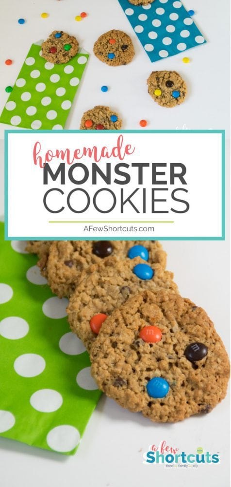 If you are looking for the best cookie recipe this Monster Cookies Recipe could be it! Full of M&M's, Peanut Butter, and more! Plus, they are gluten free!