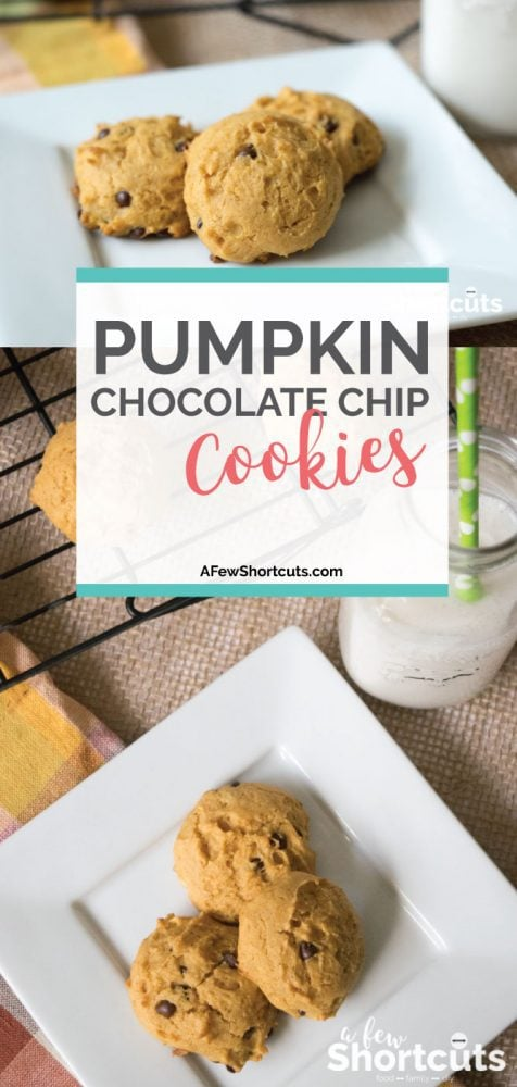 If you love all things Pumpkin Spice than you need to try this Soft Pumpkin Chocolate Chip Cookies Recipe! This is the perfect fall cookie recipe