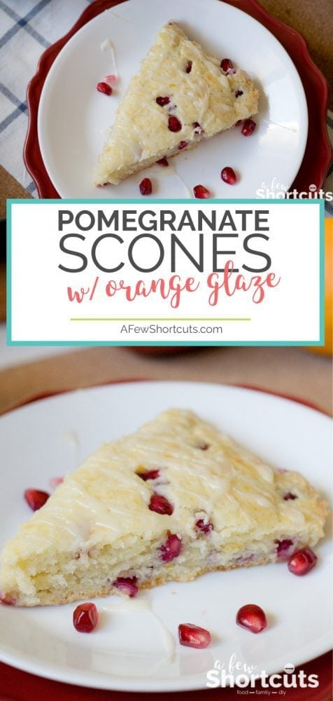 This could be the perfect fall combination! This Pomegranate Orange Scones Recipe made with a cup of coffee is the best start to a crisp day!