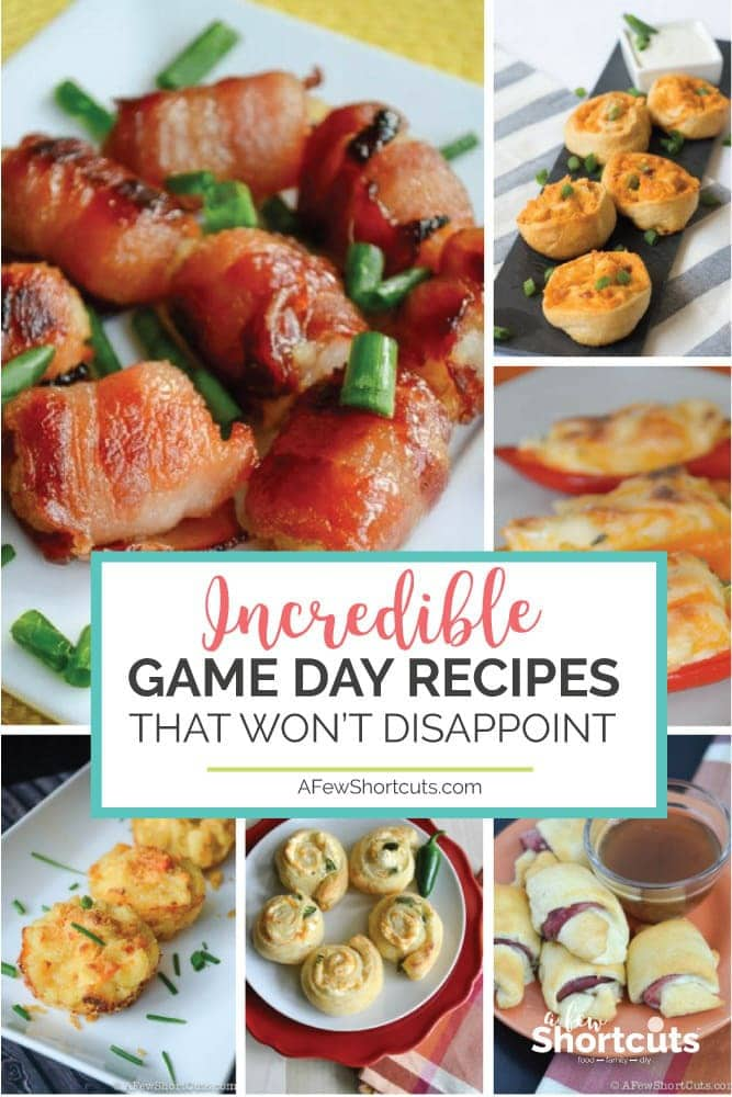 If you are looking for some great food to kick off the big game don't miss these 10 Incredible Game Day Recipes that won't disappoint! They are amazing!