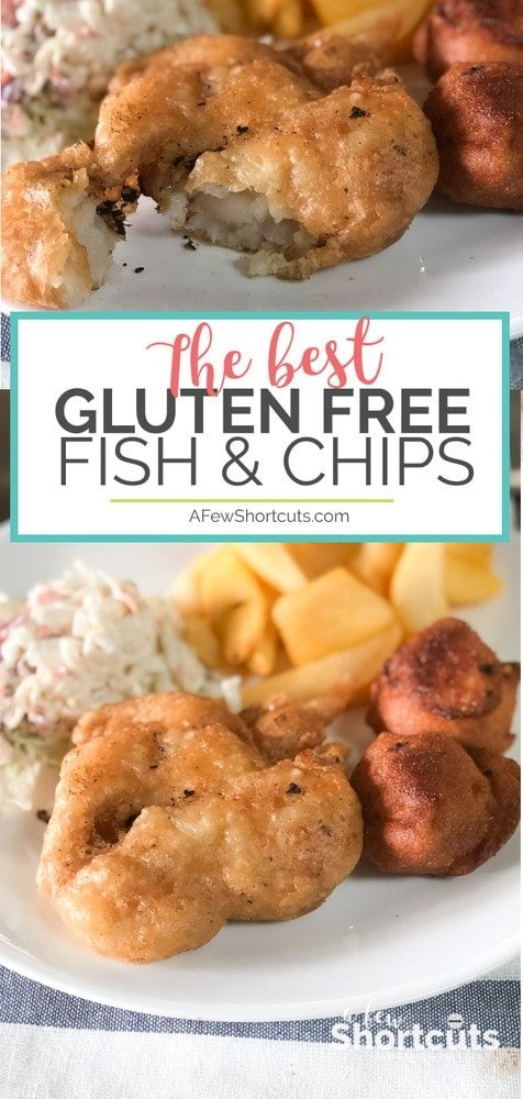Don't miss out on a classic! Learn how to make the best Gluten Free Fish and Chips with this tasty recipe. Tastes just like the original, maybe better!