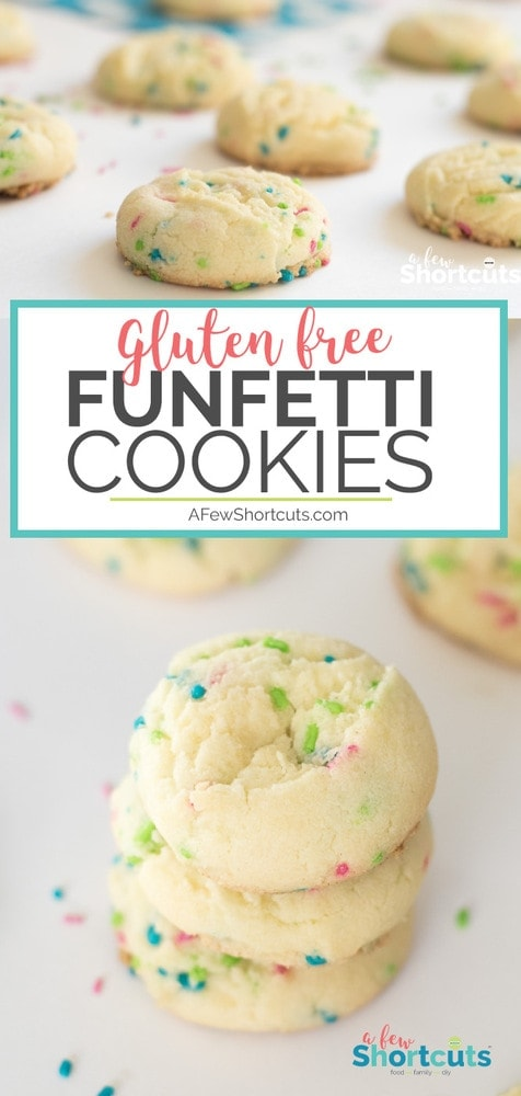 Everybody deserves a fun colorful, soft chewy cookie in their lives! Try this easy Gluten Free Funfetti Cookies Recipe. It can be made dairy free and egg free too!