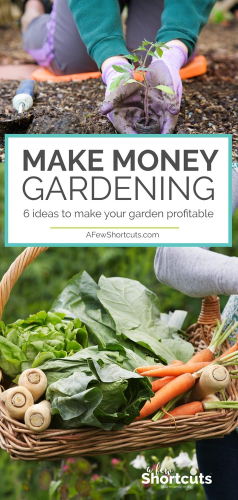 It's time that your green thumb paid off! Make Money Gardening! Check out these 6 ideas to make your garden profitable and put some money back in your pocket.