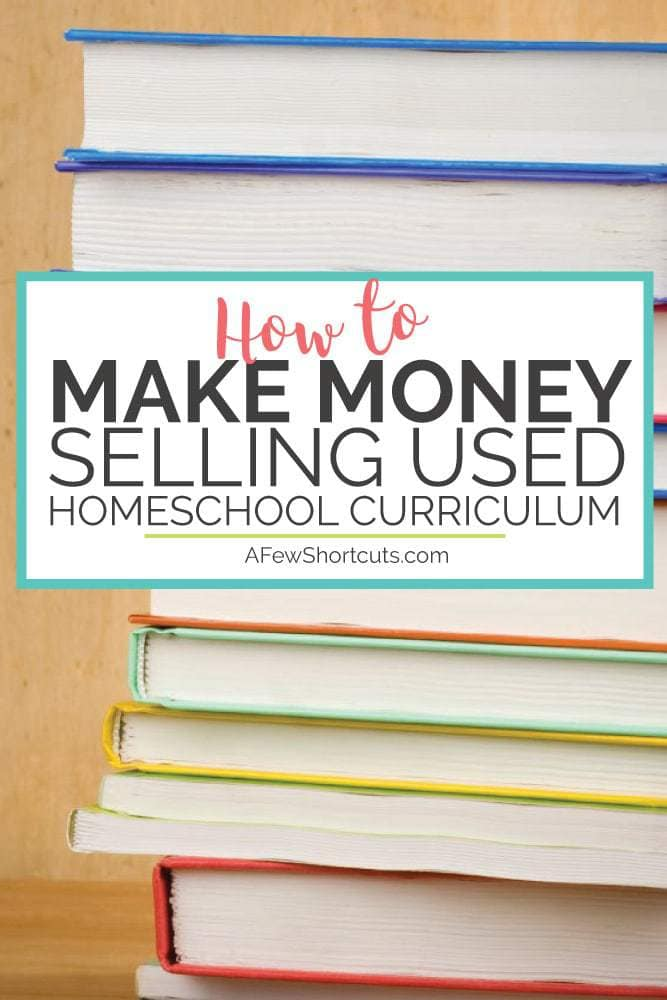 Don't miss out on an opportunity to get some money back from those books! Learn how to make money selling used Homeschool curriculum at the end of the year!