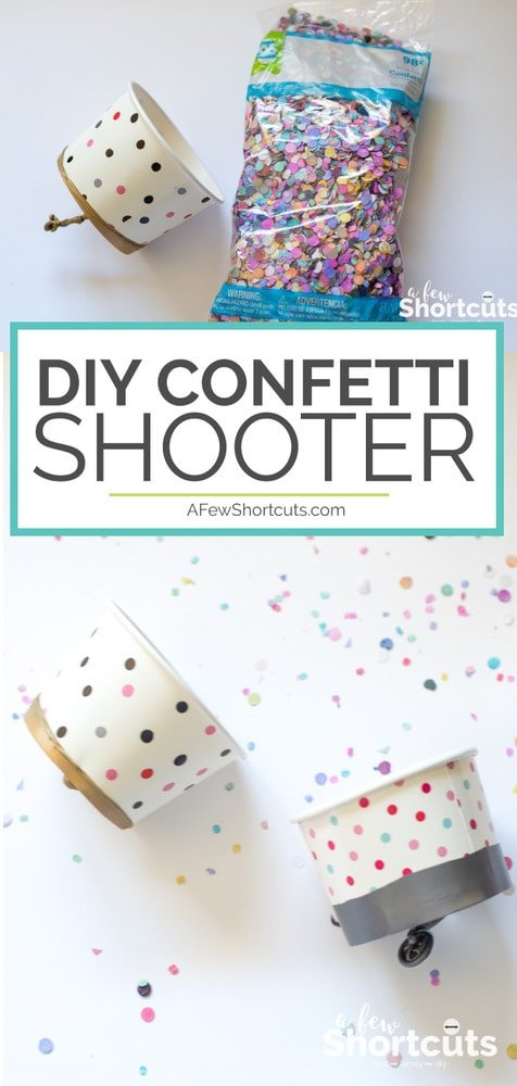 Just a few supplies and you can make this fun DIY Confetti Shooter! They aren't just for confetti! Turn them into Pom Pom Shooters, Marshmallow Shooters and more!