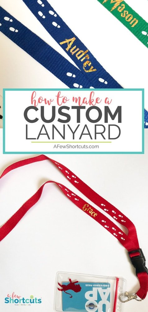 Don't spend big bucks on a lanyard when you travel. Learn how to make a custom lanyard with a little bit of vinyl and save a ton of money! Perfect for your next vacation!