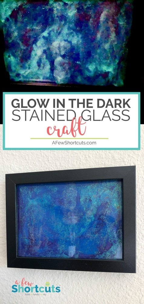 4 simple supplies and you are on your way to making your own Galaxy art! Check out this fun Glow in the Dark Stained Glass Craft for Kids!