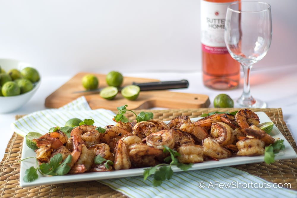 Have a taste of Florida with this Simple Spicy Key Lime Shrimp Recipe. Easy to throw together in just minutes in a skillet or on the grill for a tasty dinner or appetizer.