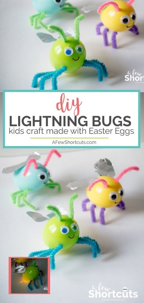 Put those plastic easter eggs to use and make these adorable DIY Lightning Bugs made with easter eggs. An easy kids craft that will be a hit!