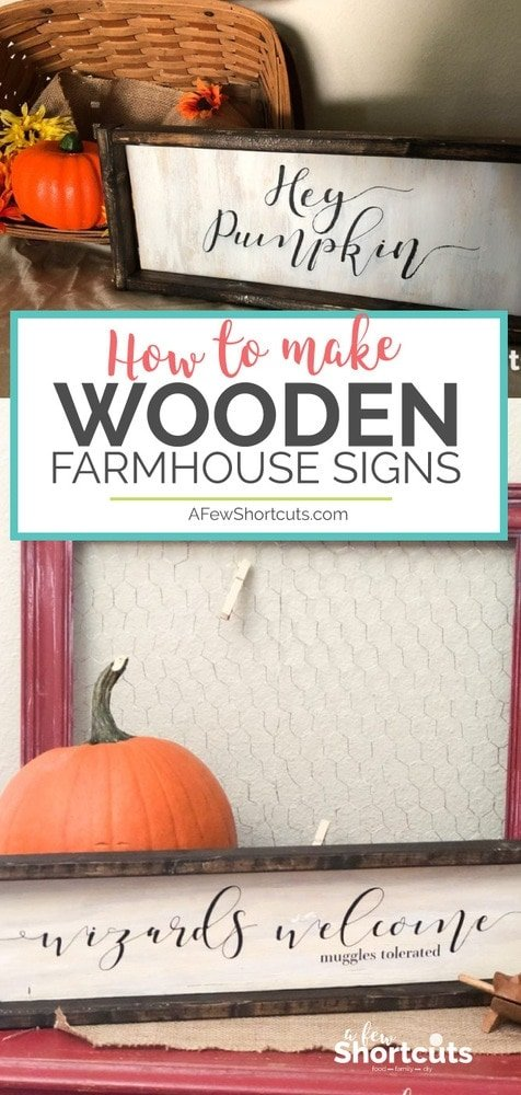 Skip ordering from ETSY and learn How to make custom Wooden Farmhouse signs with your favorite sayings to decorate your home.