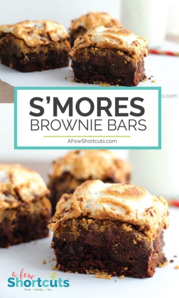 Ooey gooey deliciousness at its finest! This simple Smores Brownie Bars Recipe is easy to make and perfect for your next camp-out, movie night or just because!