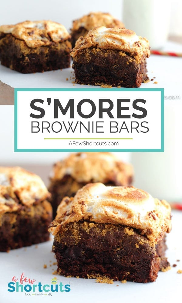 Ooey gooey deliciousness at its finest! This simple S'mores Brownie Bars Recipe is easy to make and perfect for your next camp-out, movie night or just because! #Dessert #smores #Glutenfree #dairyfree #chocolate