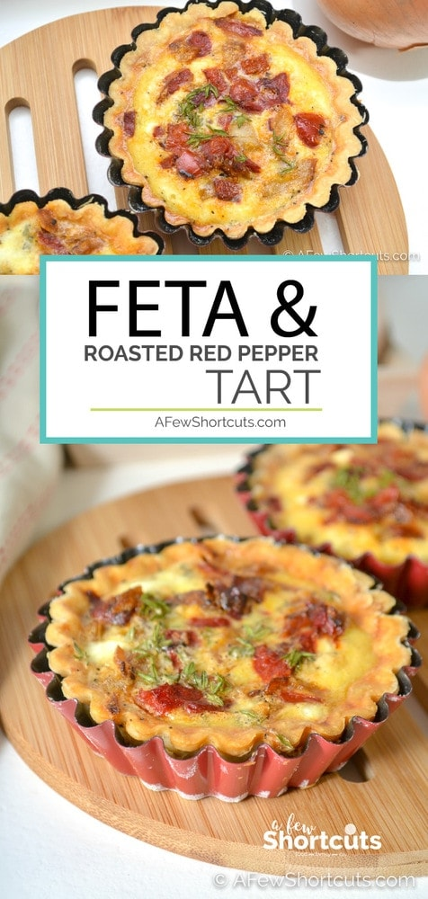 The perfect breakfast or brunch dish. This delicious Feta & Roasted Red Pepper Tart Recipe is sophisticated but simple to make! Great for when you are having guests!