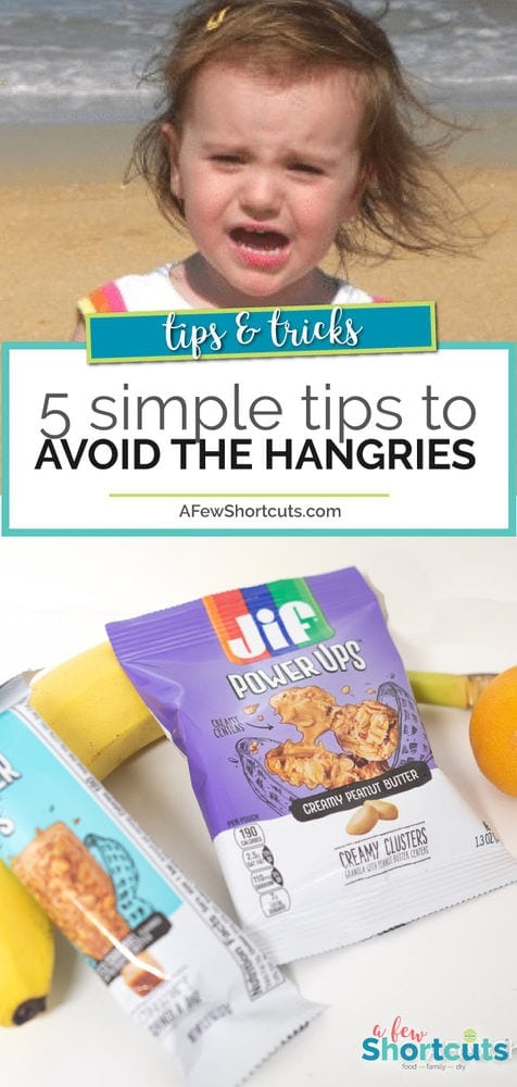 Skip the meltdowns and check out these 5 Simple Tips to Avoid the Hangries when you are out and about with your family. Great tips for everyday!