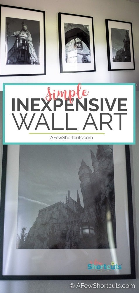 Decorating your home does not have to cost a fortune. You can have classy Inexpensive Wall Art simply with this easy shortcut. #homedecor #wallart #photos #diy