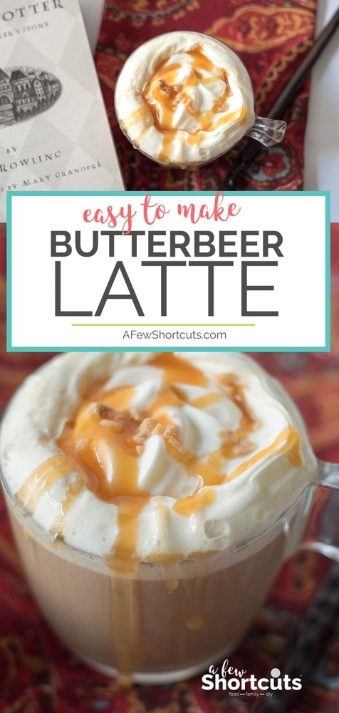Hogwarts is Home. Get ready to be transported sip by sip with this Easy to Make Butterbeer Latte Recipe. Only a few ingredients and you can enjoy this delicious coffee treat.