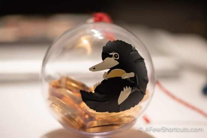 Catch a Fantastic Beast right on your Christmas Tree with this fun DIY NIffler Christmas Ornament & Free cut file! |@AFewShortcuts #diy #crafts #christmas #niffler #fantasticbeasts #harrypotter #vinyl