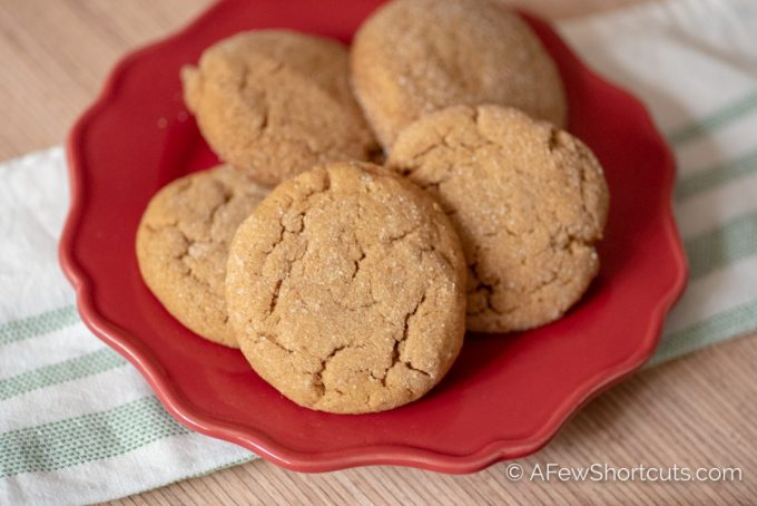 This is sure to become a favorite cookie recipe! This is the Best Chewy Ginger Cookie Recipe! One bite of these cookies and you will melt with delight! | @AFewShortcuts #cookies #cookie #recipes #Christmas #ginger #glutenfree #dairyfree