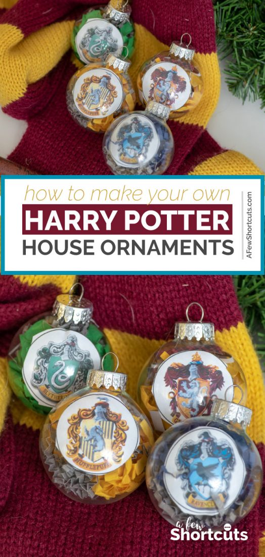 picture regarding Harry Potter House Badges Printable called Do it yourself Harry Potter Household Ornaments with Printable - A Pair