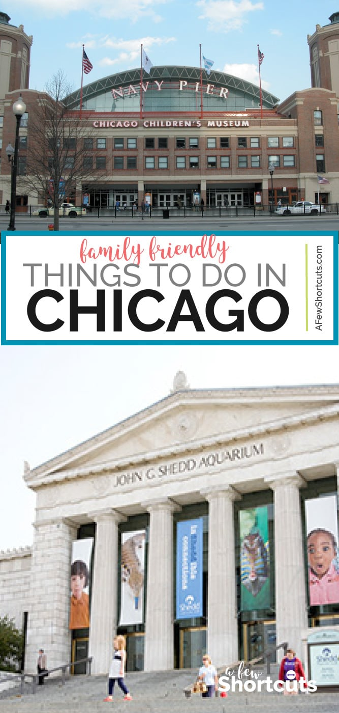 Taking a trip or just passing through, check out this great list of Things to do in Chicago with Kids! There are so many family friendly attractions! | @AFewShortcuts #travel #familytravel #chicago