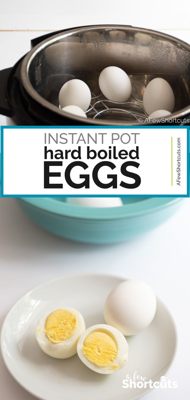 The most perfect hard boiled eggs in only 5 minutes! It can happen with this simple Instant Pot Hard Boiled Eggs Recipe! Quick & Easy! | @AFewShortcuts #recipe #instantpot #keto #eggs