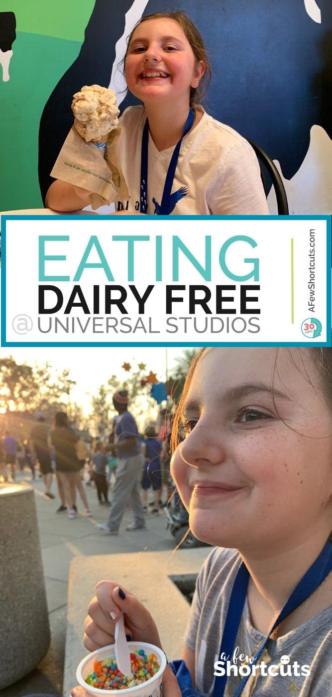 Eating Dairy Free at Universal Studios