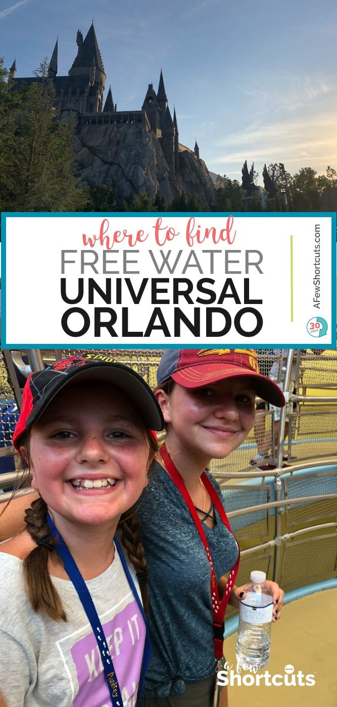 Where to Find Free Water at Universal Orlando