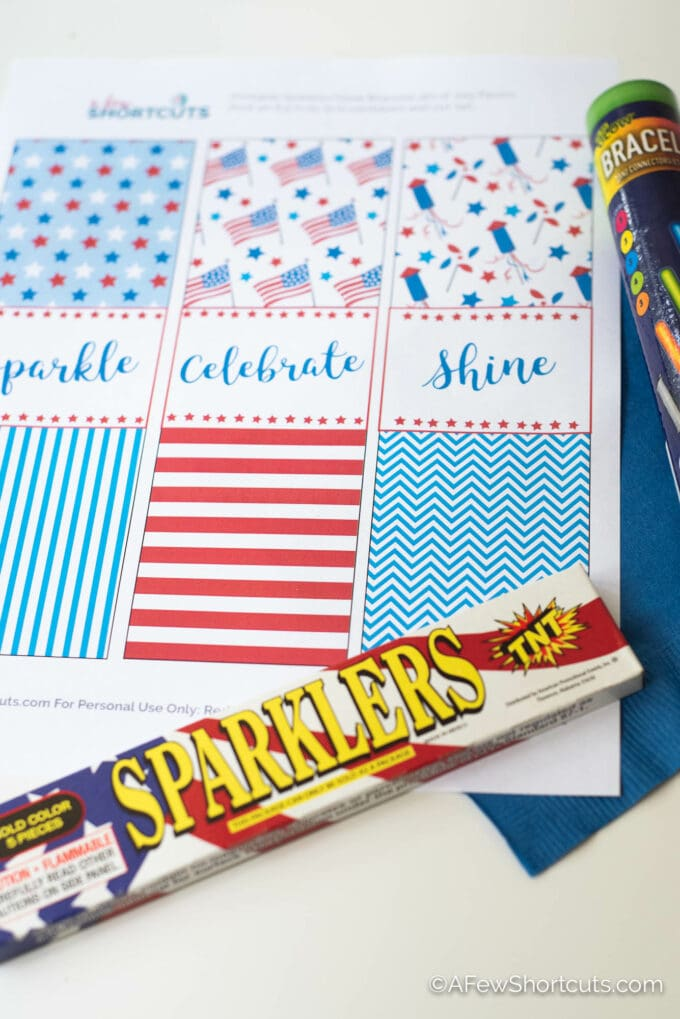 sparklers and printable