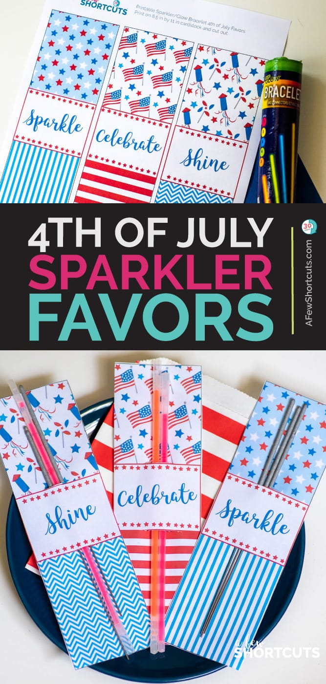 4th of July Sparkler Party Favors