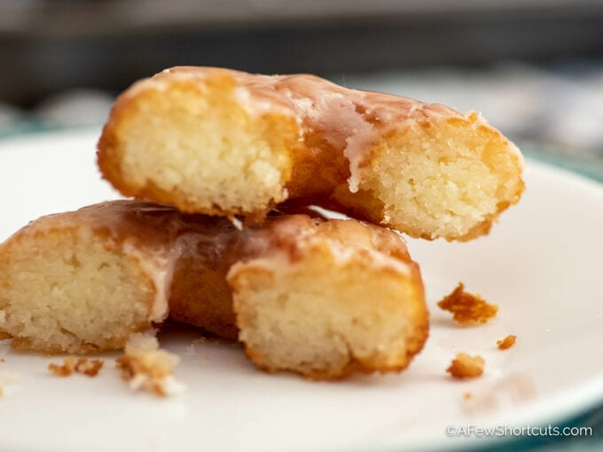 Donut with crumbs