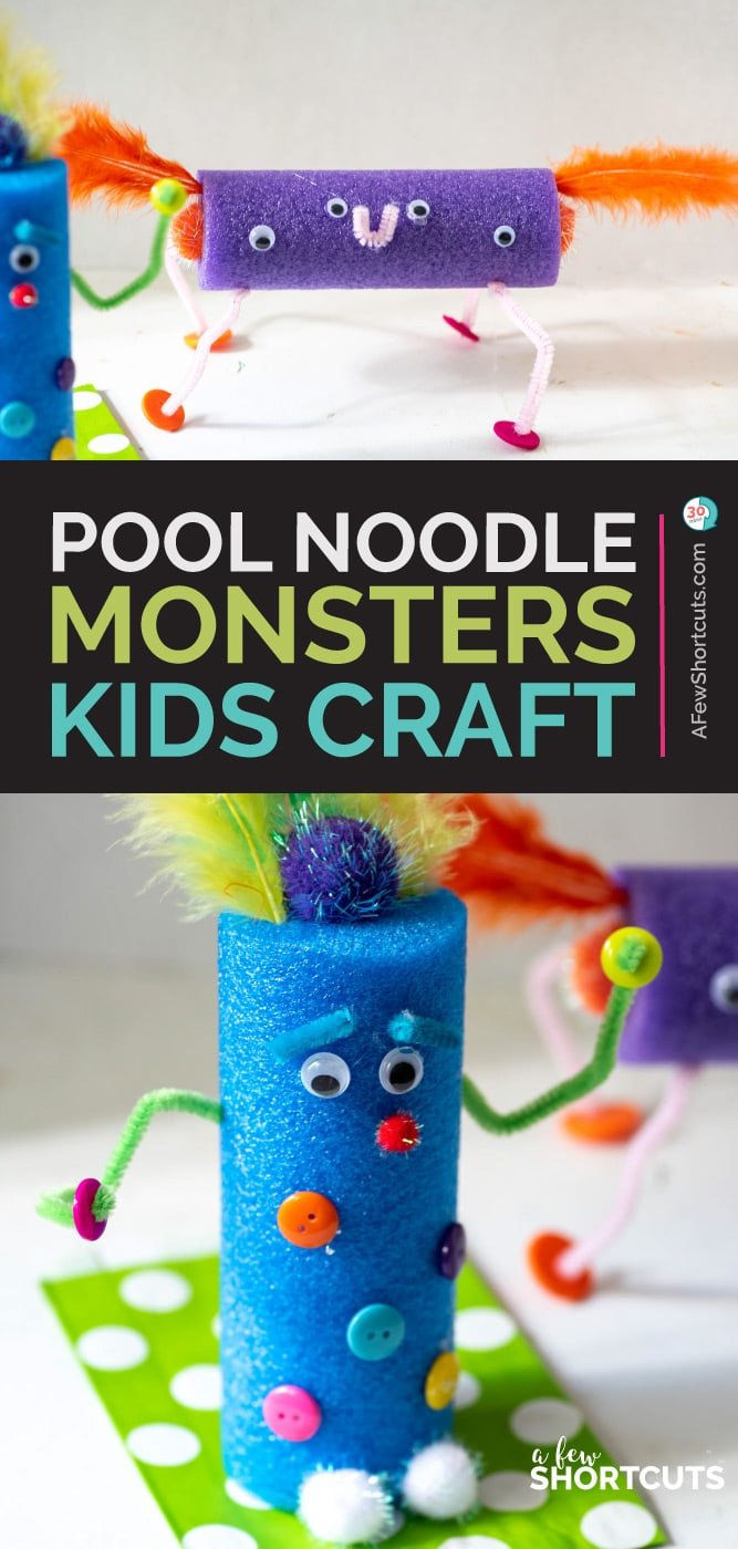 Pool Noodle Monsters Kids Craft