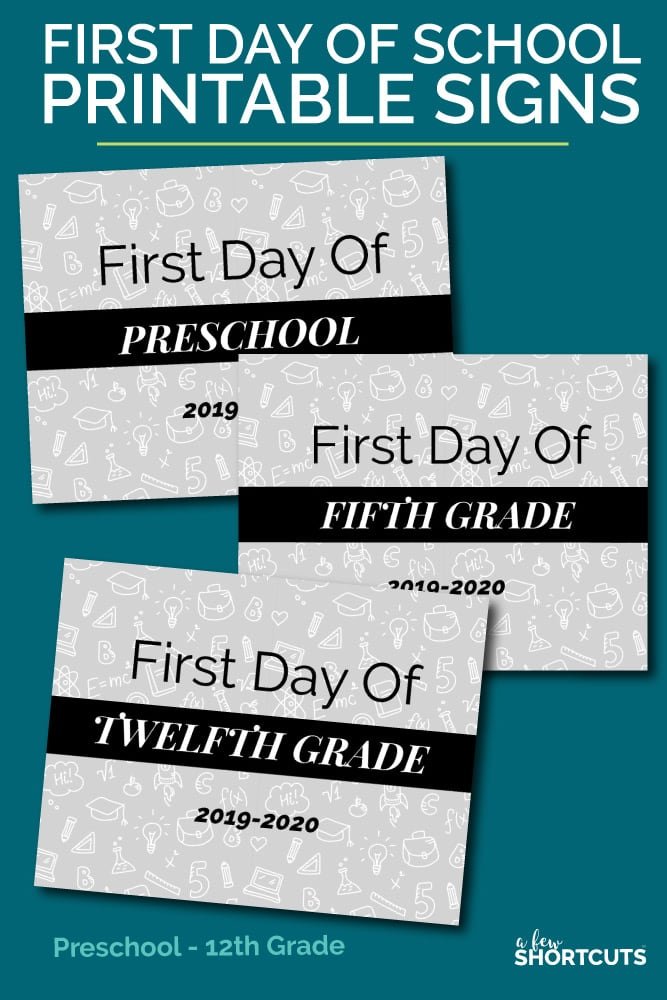 image relating to Free Printable Signs identify Totally free Initial Working day of College Printable Signs and symptoms - A Handful of Shortcuts