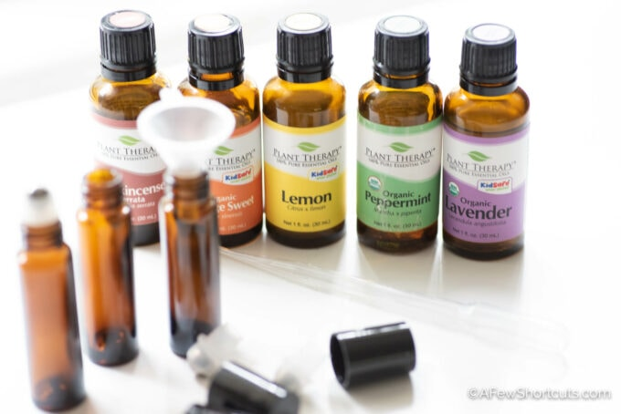 essential oils & bottles