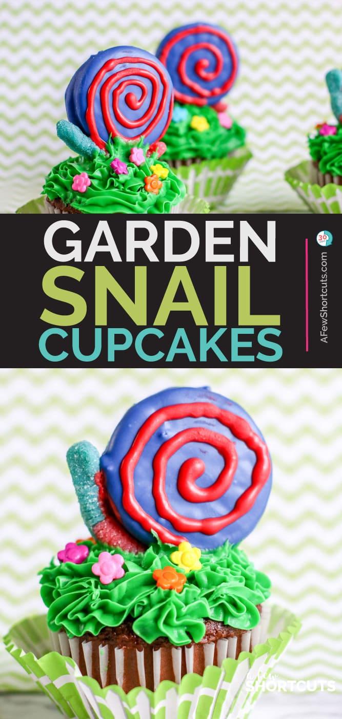 Garden Snail Cupcakes