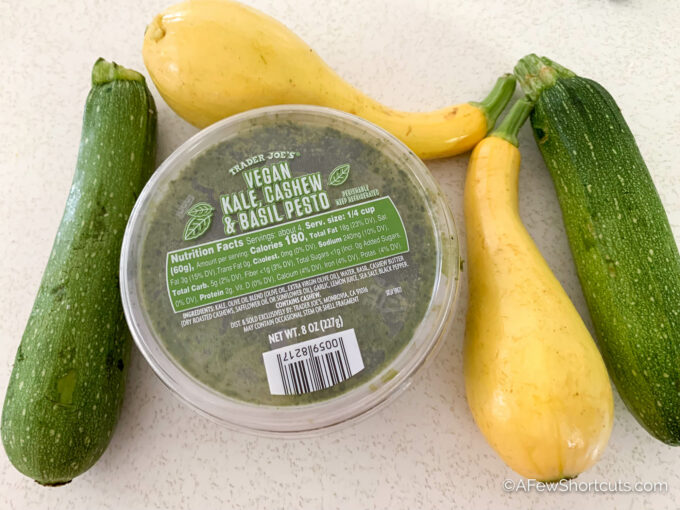 trader joes pesto & veggies