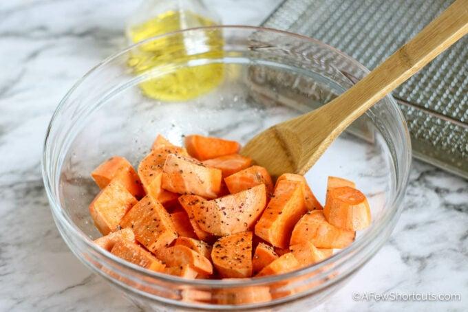 Sweet potatoes in bowl