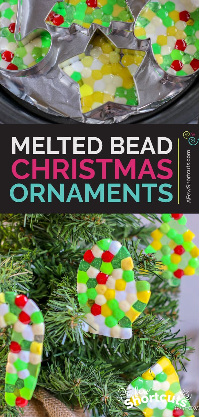 Melted Pony Bead ornaments