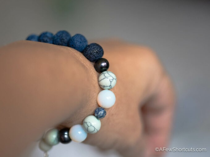 Diffuser bracelet on wrist
