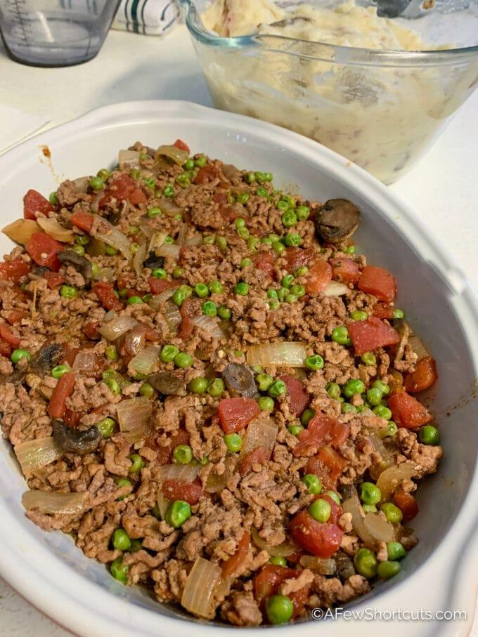 Shepherds pie without mashed potatoes