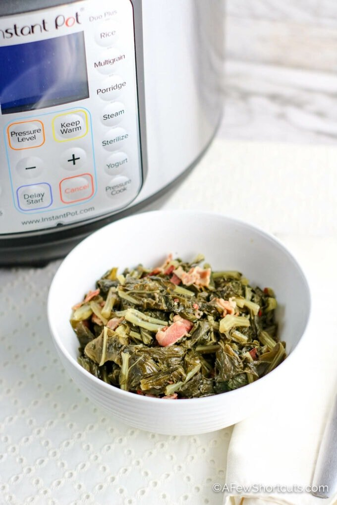Easy Instant Pot Turnip Greens