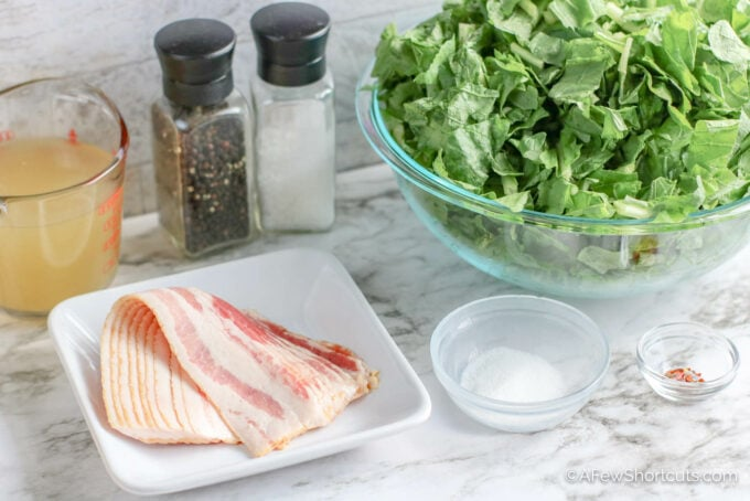 bacon and greens