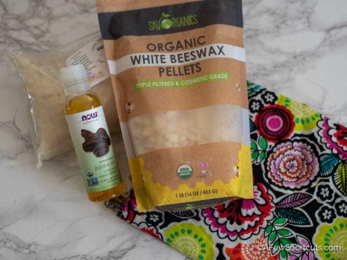 Beeswax food wrap supplies