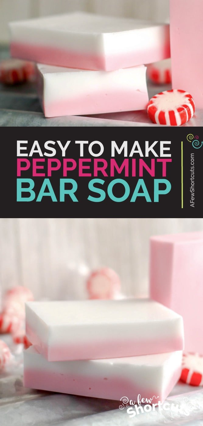 DIY Peppermint soap - easy to make