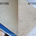 Before and after countertop