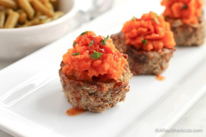 Quick & Easy Meatloaf muffins with sweet potato