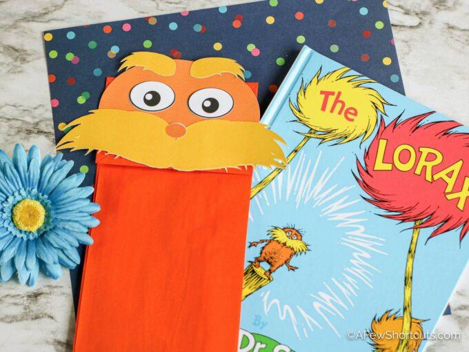 Lorax Paper Bag puppet
