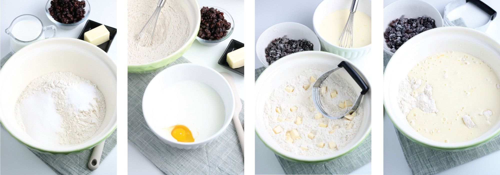 Bowl with Ingredients in steps