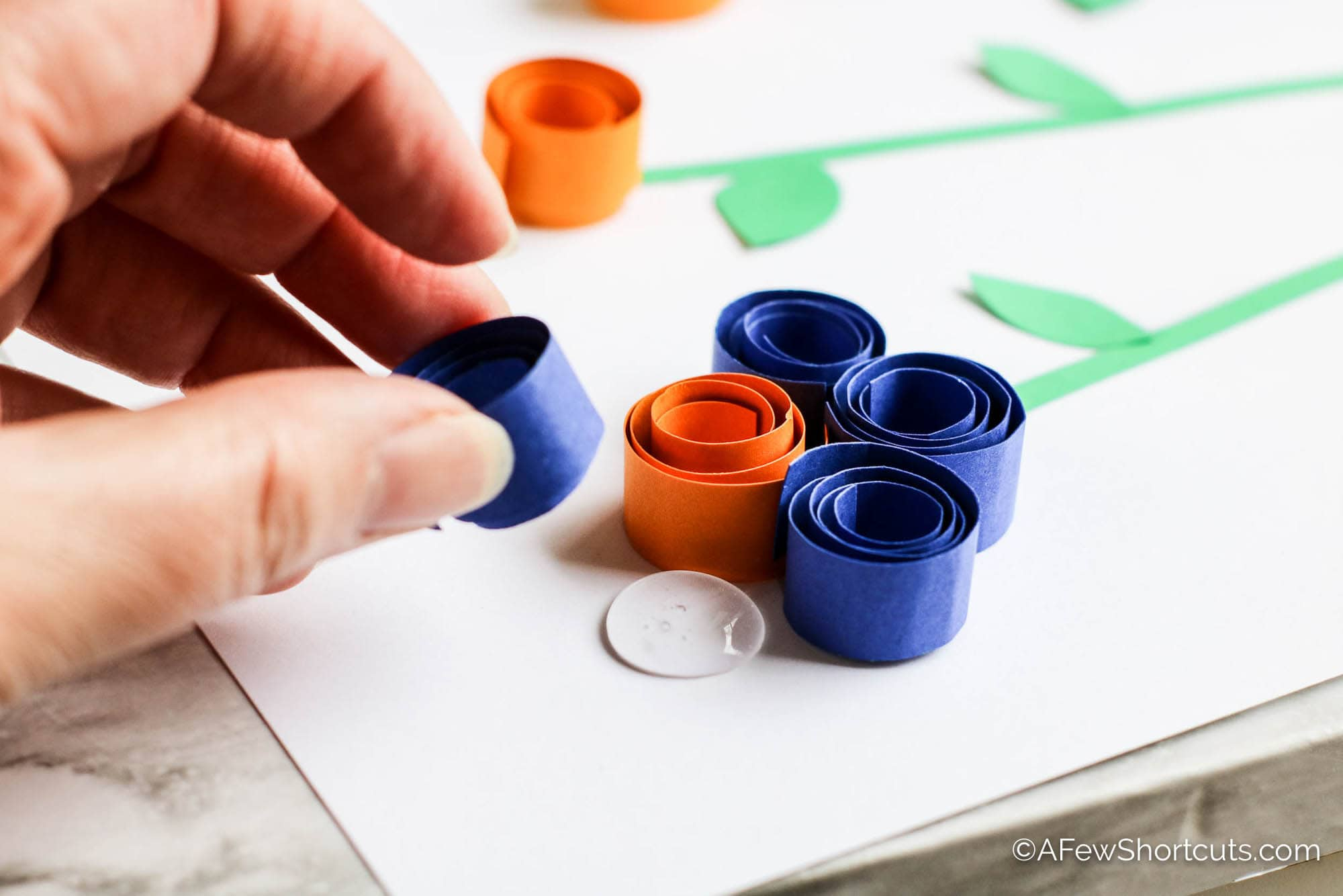 Curled Paper Flower assembly